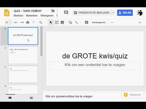 google presentaties -  quiz kwis maken