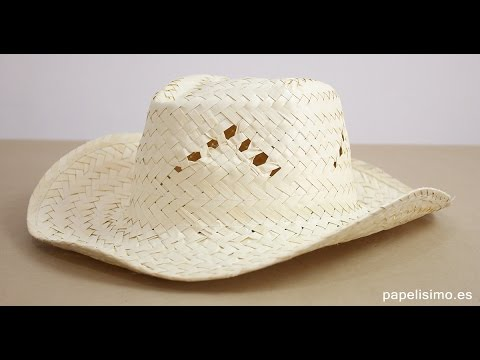 Cómo decorar sombreros de palma para playa - YouTube