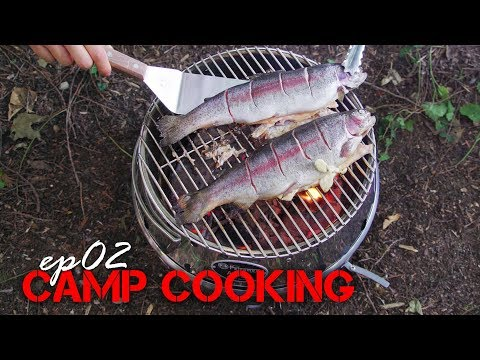 CAMP COOKING Ep02 Chinese Style Grilled Fish