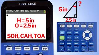 TI84 Plus CE Finding the Sine, Cosine, and Tangent of an Angle
