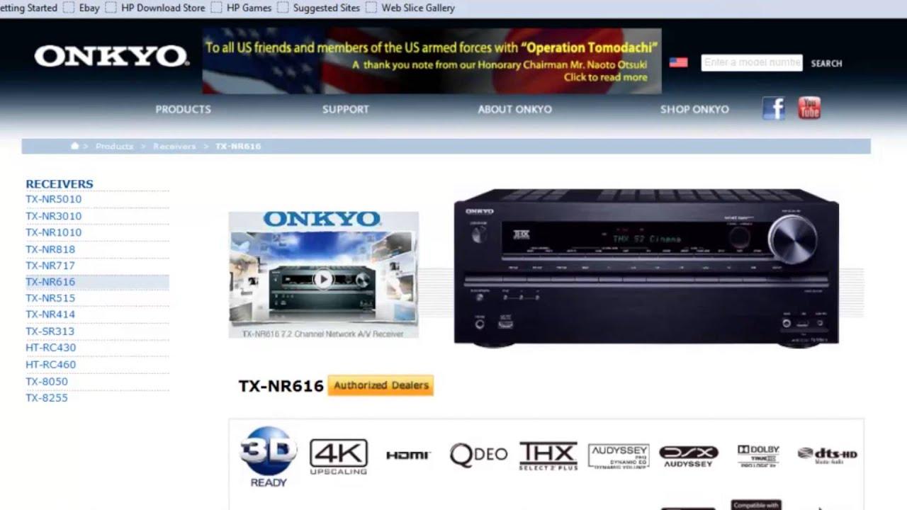 ONKYO - Firmware Update for the TXNR414, TX-NR515 & TX-NR616 via USB