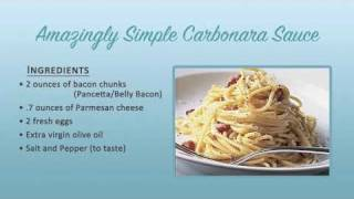 Simple Carbonara Sauce Recipe
