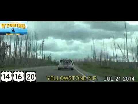 Jackson WY to Cody WY (Yellowstone Park) Time Lapse Drive 2014