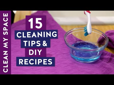 15 Essential Cleaning Tips & DIY Recipes!