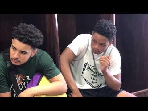 Morgan City High School Basketball visits with LSU Eunice Head Coach Byron Starks