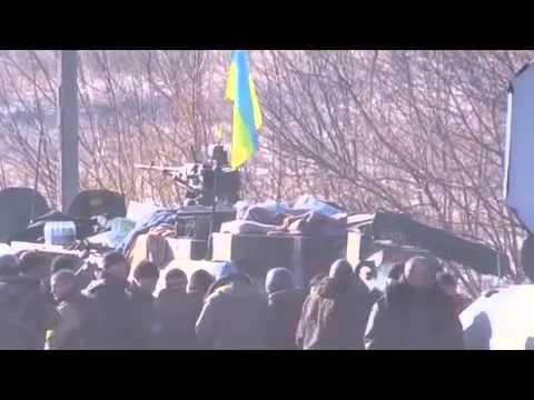 Ukriane War,News Today! 19 02 2015,RAW Kiev troops withdrawing from Debaltsevo, E