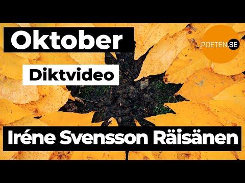 OKTOBER diktvideo av poeten Iréne Svensson Räisänen