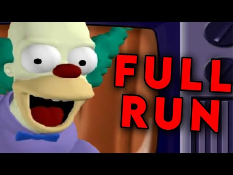 The Simpsons Hit & Run All Story Missions Speedrun in 1:31:31