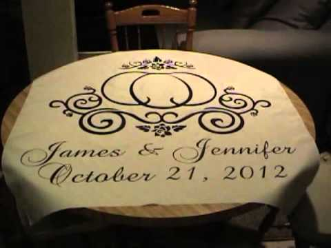How To Apply Heat Applied Vinyl To A Wedding Aisle Runner