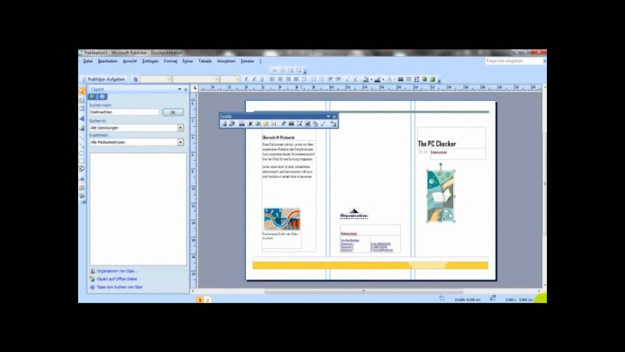grundfunktionen microsoft office publisher 2007
