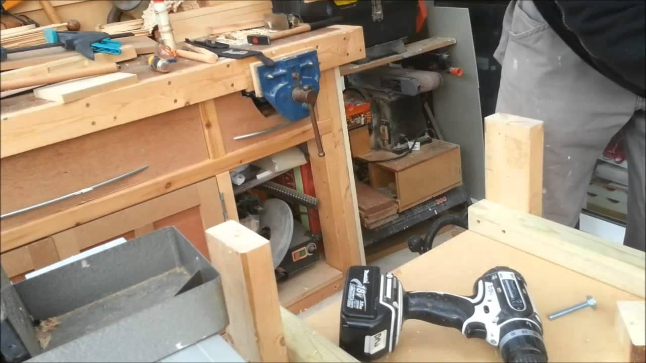 adjustable feet for workshop furniture - youtube