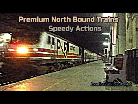 PHILLAUR JN. | Night Furore By Premium Trains of North || INDIAN RAILWAYS