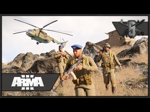 Su-25 Close Ground Attack & Heli Bowling - ArmA 3 Zeus Gameplay - Soviet-Afghan Conflict