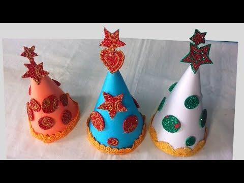 How to make Birthday part paper Cap|birthday cap making ideas|DIY Paper Artist#RD#