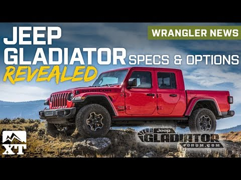 Jeep Gladiator Pickup Truck Revealed & Full Specs and Option Packages Explained - Jeep News