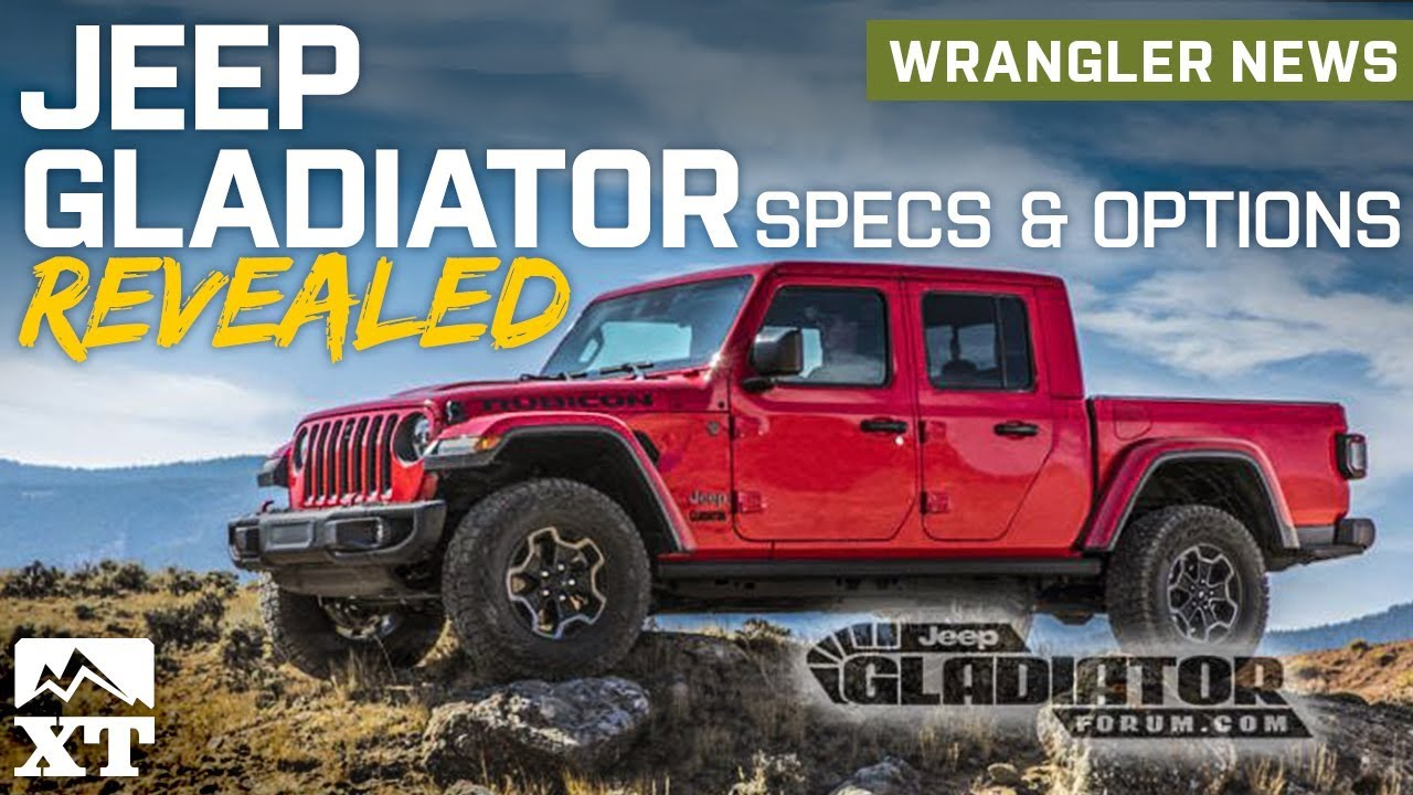 Jeep Gladiator Pickup Truck Revealed Full Specs And Option Packages Explained News