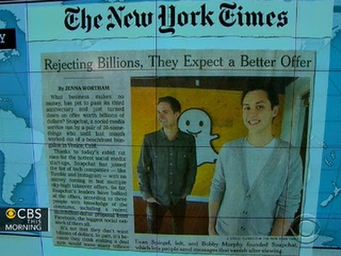 Headlines at 8:30: Snapchat rejects multi-billion-dollar bid from Facebook