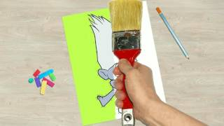 Trolls movie 2016. Animation with drawing and coloring characters.