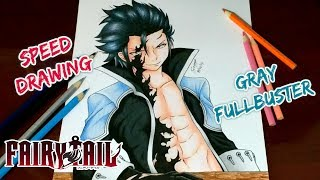 Speed Drawing - Gray Fullbuster | Ice Devil Slayer (Fairy Tail)
