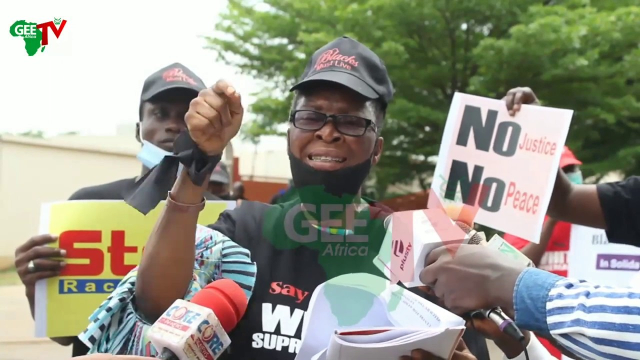 Nigeria Protest At US Embassy At Abuja Condemned George Floyd Murder