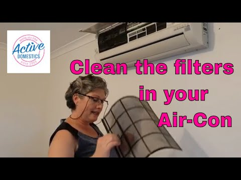 How to remove and CLEAN filters in Panasonic Air-conditioner