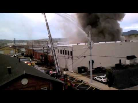 Fire at Peacock Alley in Dalton, Ga 10/9/11
