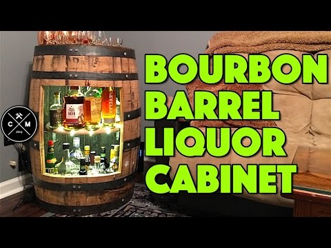 How To Build A Bourbon Whiskey or Wine Barrel Liquor Cabinet : Woodworking / DIY | Crafted Workshop