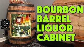 How To Build A Bourbon Whiskey or Wine Barrel Liquor Cabinet : Woodworking / DIY