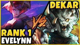#1 EVELYNN WORLD HARD STOMPS CHALLENGER VS. DEKAR'S RENGAR - League of Legends