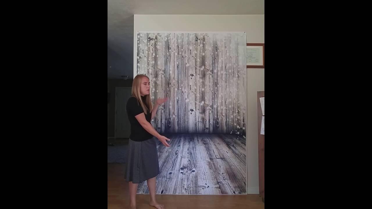 Yelewen 5x7ft Thin Vinyl Photo Backdrop Bokeh Planks Wood
