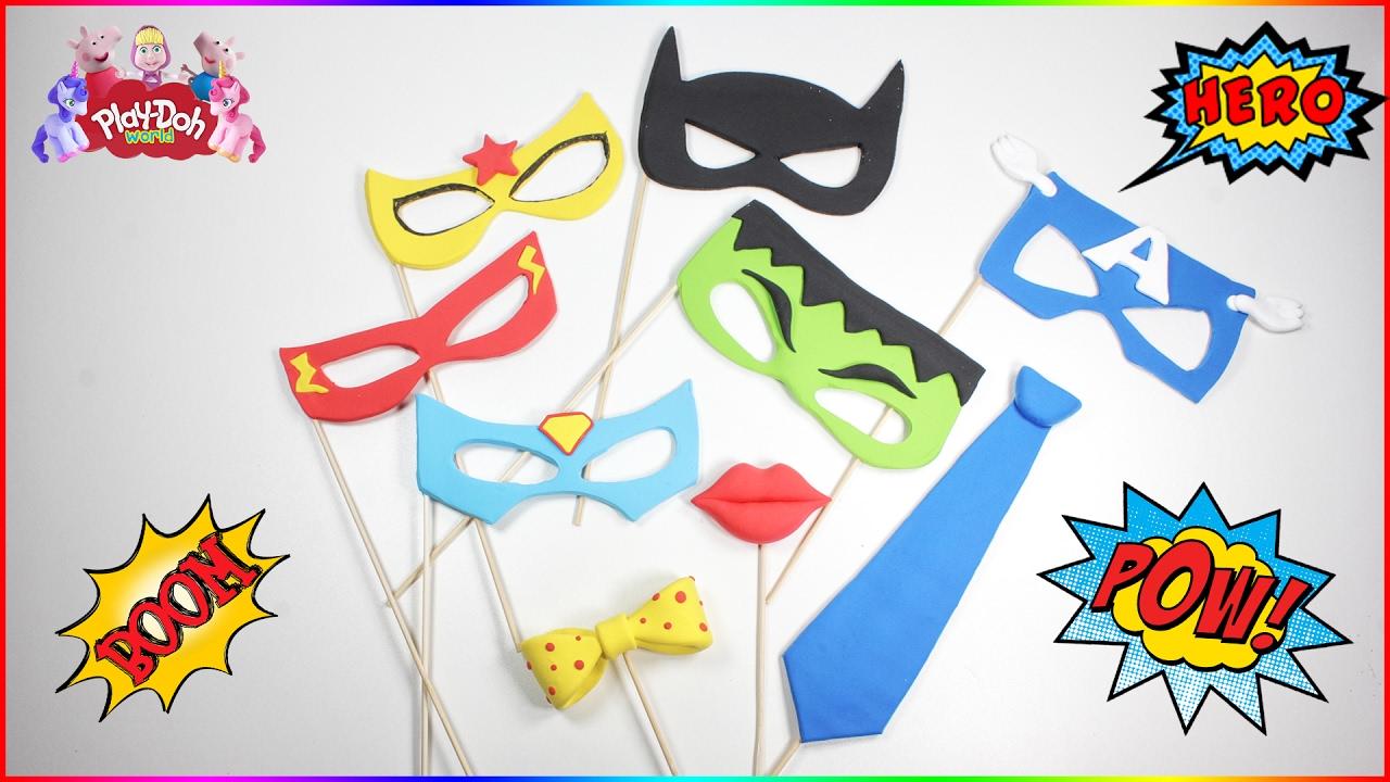 Diy Superhero Mask Photo Booth Props How To Make Dc Superhero
