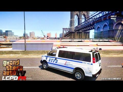 GTA 4 - LCPDFR - EPiSODE 53 - NYPD VAN POLICE (NYPD VAN) UNCUT