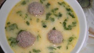 Сырный суп с фрикадельками. Рецепт.