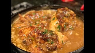 BUTTER ROASTED SMOTHERED CHICKEN !!!