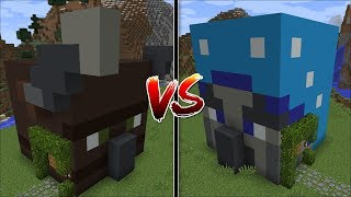 Minecraft ILLAGER BEAST HOUSE VS ILLUSIONER HOUSE MOD / SURVIVE INSIDE THESE HOUSES !! Minecraft