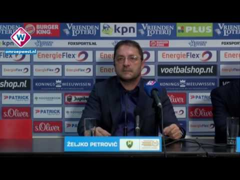 Persconferentie ADO-coach Zeljko Petrovic na het duel tegen NEC