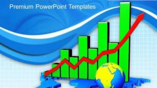 global economic growth bar chart powerpoint templates ppt backgrounds for slides 0413