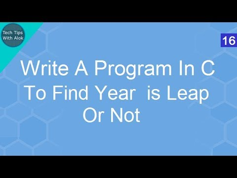Write A Program In C To Find Year is leap or not