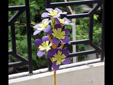 How To Make Iris Paper Flower | DIY Paper flowers idea no 09 | Paper Flower making Tutorials