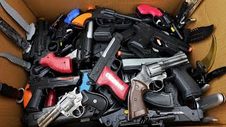 A Huge Box Toy Guns and Six-shooter Weapons - Toy Gun Toys