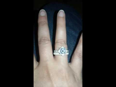 """This is Love"" cz ring set C-13 Avon"