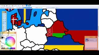 Europe-drawing #3 Russia, Ukraine, and Belarus flags