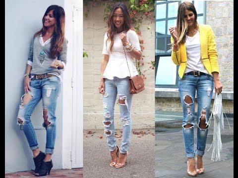 Jeans rotos moda mujer
