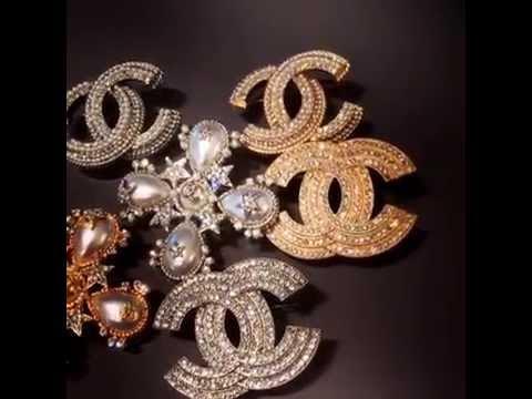 Смотреть онлайн Элитная бижутерия Chanel брошки, бусы, браслеты, серьги