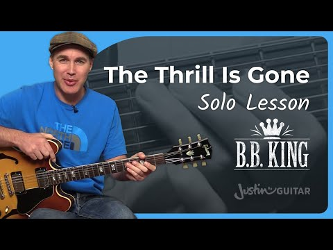 The Thrill Is Gone (Intro Solo) - B.B. King - Guitar Lesson Tutorial (CS-006)