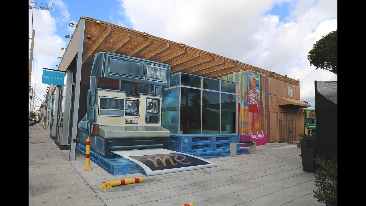 Anamorphic mural Wynwood Walls - YouTube