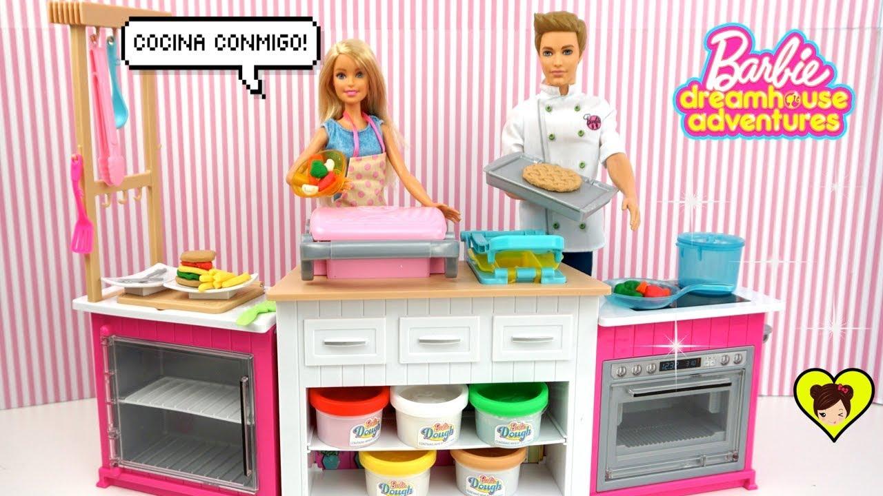 Haciendo Comida Miniatura En La Nueva Cocina De Juguete Barbie