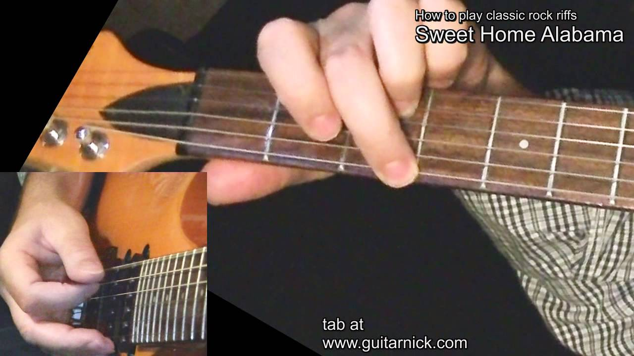 """This guitar lesson is for a solo acoustic version of """"sweet home alabama"""" by. Sweet Home Alabama With Tab Guitar Lesson Learn To Play Classic Rock Metal Riffs Youtube"""