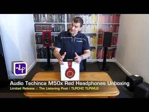 Audio Technica ATH M50X RED Headphones Unboxing   The Listening Post   TLPCHC TLPWLG
