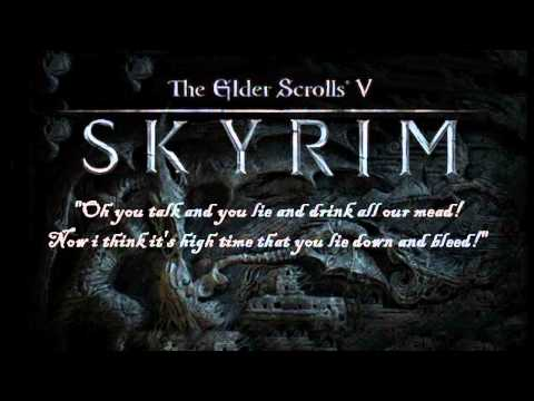 Skyrim song: Ragnar the Red